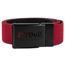 Pasek Parciany Pit Bull Old Logo Red