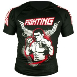 Rashguard Backfist Fighting